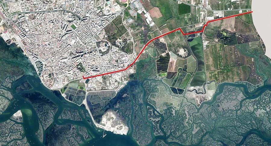 Via vai ter uma extensão de quatro quilómetros e irá ligar a zona do Bom João, em Faro, à entrada da cidade de Olhão