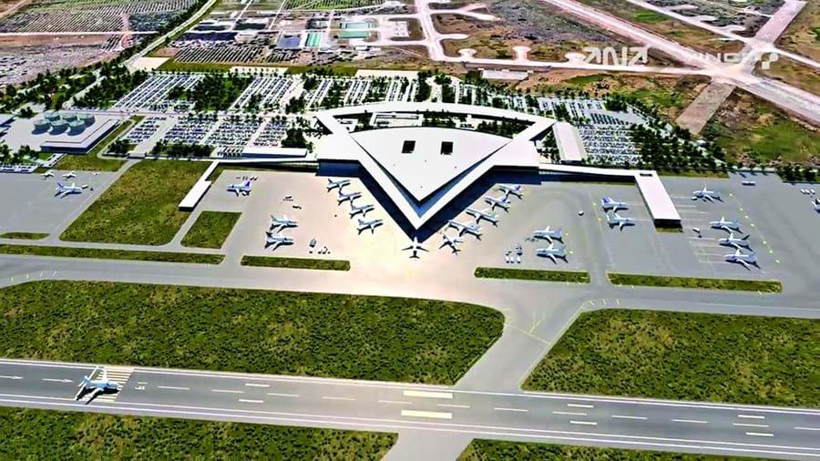 O aeroporto deverá estar pronto em 2022