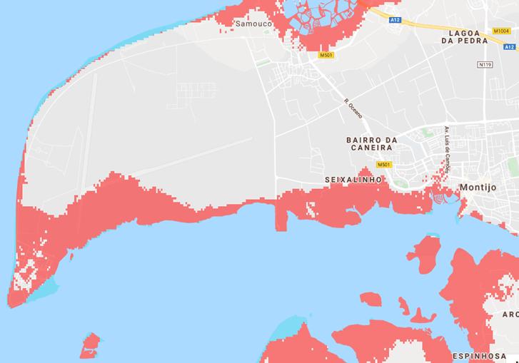 Aeroporto do Montijo poderá estar submerso ainda antes de 2050