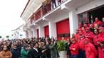 Manifestação de apoio aos bombeiros agredidos em Borba junta mais de 300 pessoas