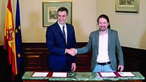 Acordo para coligação põe Iglesias como vice-primeiro-ministro do governo espanhol