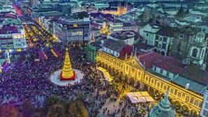 Luzes de Natal em Braga acendem no último dia deste mês