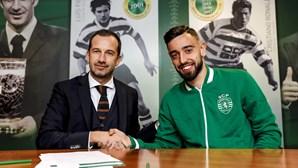 Bruno Fernandes renova com Sporting
