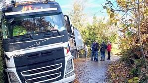 Motorista português enganado pelo GPS está há seis dias com o camião atolado em Itália