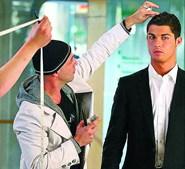 Cristiano Ronaldo penteado por Ricardo Marques Ferreira