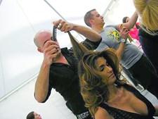 Liliana Campos com o cabeleireiro