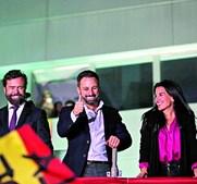 Santiago Abascal festeja