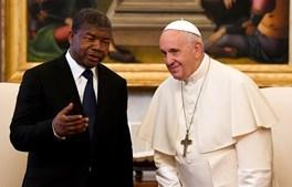Papa Francisco recebe João Lourenço no Vaticano