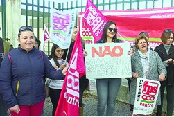 Protesto na Escola de Aradas