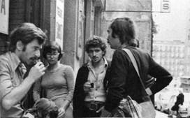 Deslocação do GAC (Grupo de Ação Cultural), em 1976. Com António Cardoso e António Vasconcelos