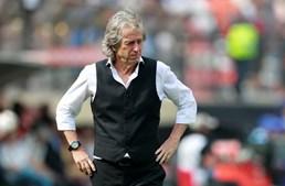 Jorge Jesus durante a final da Taça Libertadores