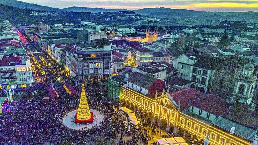 Iluminações de Natal em Braga