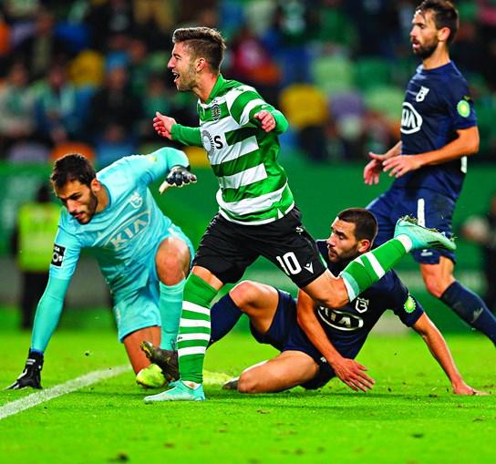 Vietto foi a figura do jogo ao apontar os dois golos da equipa do Sporting frente ao Belenenses