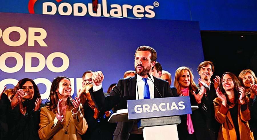 Casado defendeu que Sánchez foi o grande derrotado destas eleições