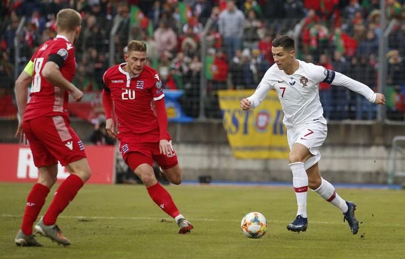Ronaldo marcou o segundo golo do jogo Luxemburgo-Portugal