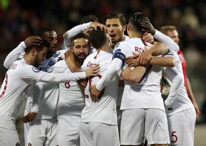 Portugal qualificado para o Euro 2020 com golos de Bruno Fernandes e Ronaldo