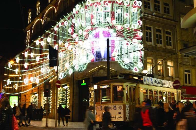 Luzes de Natal no Porto