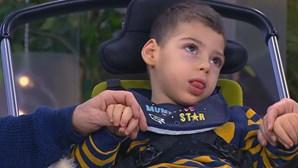 Rui Mário nasce com paralesia cerebral depois de complicações durante o parto