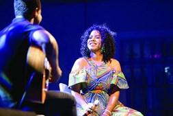 A cantora cabo-verdiana Nancy Vieira atuou esta quarta-feira em Bogotá, no âmbito da consagração da morna pela UNESCO