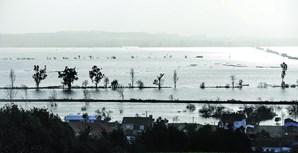 Em Meãs do Campo, os terrenos agrícolas deram lugar a um imenso lago