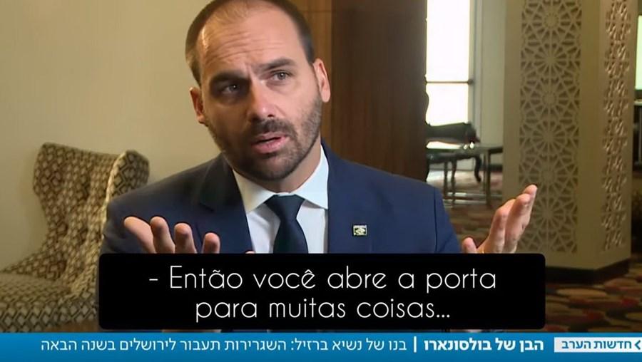 Eduardo Bolsonaro entrevista Israel