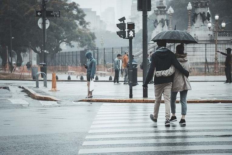 Chuva e vento