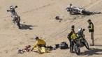 Veja o momento em que médicos tentam salvar Paulo Gonçalves nas areias do deserto saudita