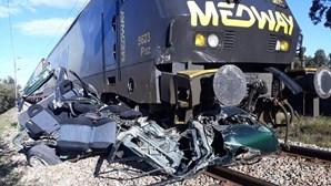 Comboio abalroa carro e mata condutora em Salvaterra de Magos