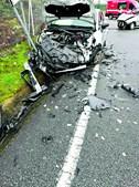 Carros ficaram totalmente destruídos na sequência do embate, no Freixo