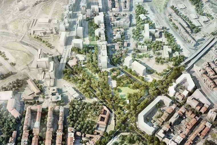 Jardim em que se irá transformar a Praça de Espanha
