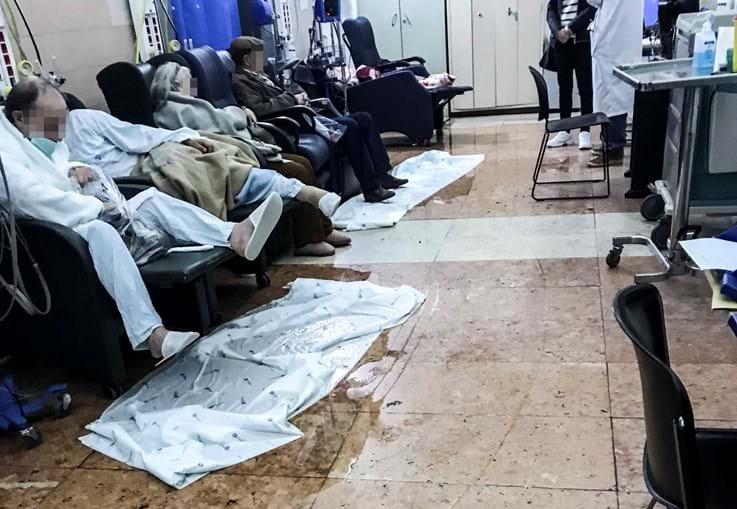 Chuva deixa salas de Hospital de São José em Lisboa alagadas
