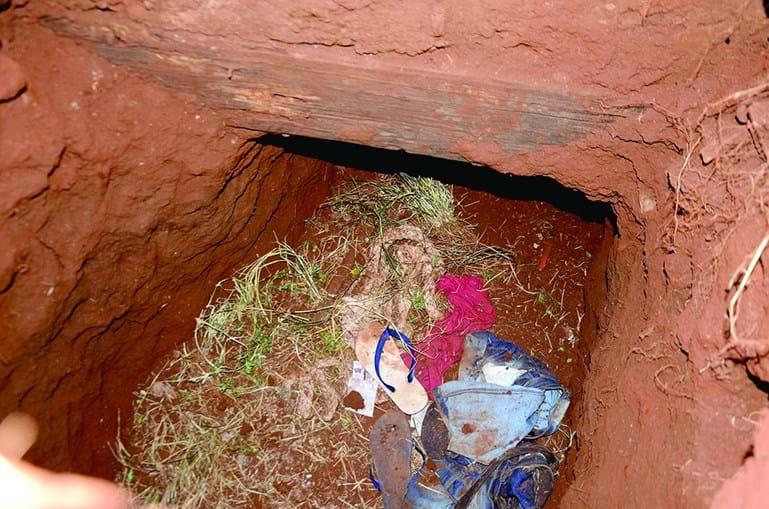 O túnel que escavaram para fugir