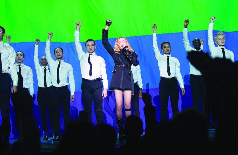 Madonna no Coliseu dos Recreios numa das poucas fotos oficiais