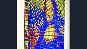 Mona Lisa feita com cubos de Rubik vai a leilão em Paris