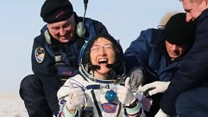 Astronauta americana regressou hoje à Terra após recorde de 11 meses no espaço