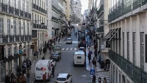 Comerciantes da Baixa de Lisboa preocupados com teletrabalho obrigatório imposto devido à Covid