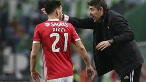 Bruno Lage culpa Pizzi, André Almeida e Rafa pelo mau momento do Benfica