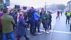 Alguns manifestantes exaltaram-se e a GNR foi chamada a intervir