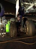 Pneu rebentado que obrigou avião da Air Canada a aterrar de emergência em Madrid