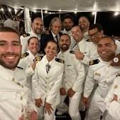 Jorge Jesus recebe navio-escola 'Sagres' no Brasil