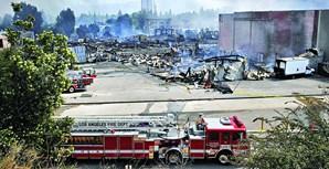 Um incêndio destruiu um armazém da editora Universal, na Florida