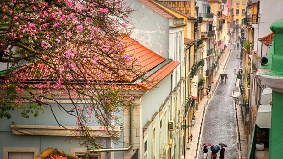 Dia de chuva em Lisboa