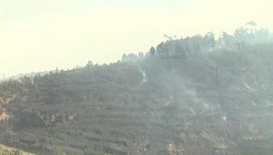 Incêndio lavra em zona de mato na Ponta do Pargo na Madeira