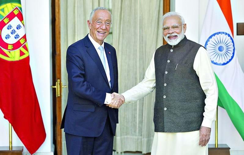 Marcelo Rebelo de Sousa com o primeiro-ministro indiano, Narendra Modi