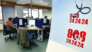 Linha SNS24 registou aumento de quase 80% de chamadas este ano