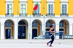 Lisboa deserta devido à crise do coronavírus