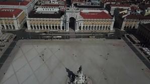 Imagens de drone mostram ruas vazias de Lisboa devido ao coronavírus