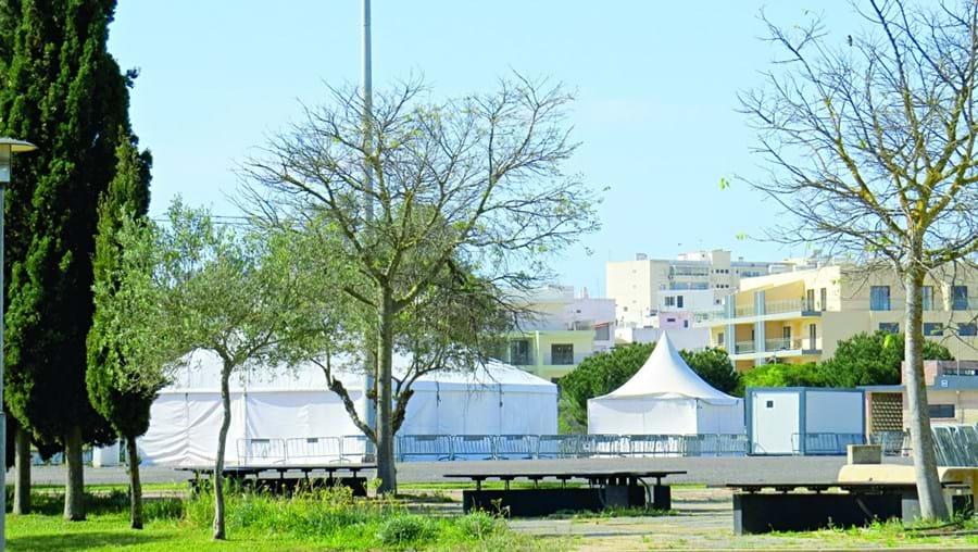 Centro de rastreios para coronavírus em Portimão