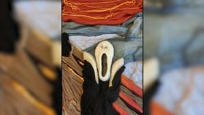 Arte em isolamento: Russos recriam obras-primas com repolho, lentilhas e meias