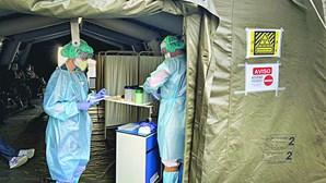 Hospitais militares têm 72 internados com coronavírus